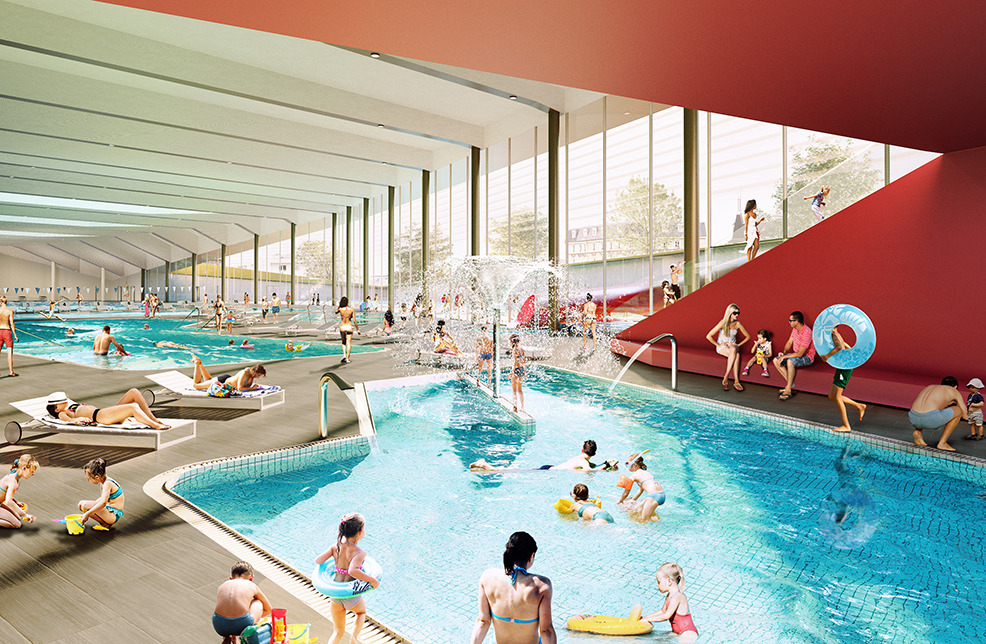 Deuxi me place pour le complexe aqualudique patinoire de reims for Piscine reims
